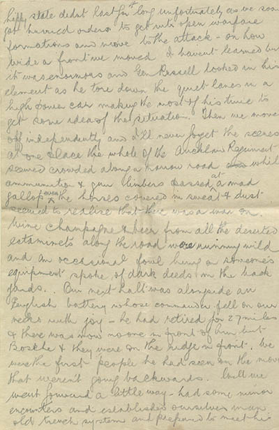 Robert McFarland letter, 5 April 1918. Private collection.